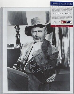 Buddy Ebsen Hollywood TV Actor Autographed 8x10 Photo PSA Beverly Hillbillies