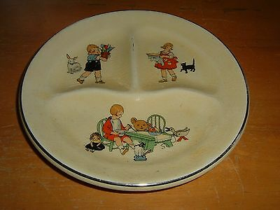 Vintage CHILD'S DIVIDED PLATE Numerous CHARACTERS