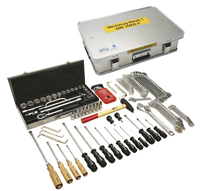 Toolbox Metal 1 DIN 14800-wkm 1 In Firebox Fire Fighters Loading RW THW