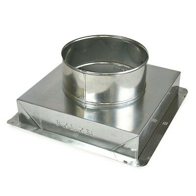 Ceiling Register Box 10 x 10 to 8 in. Galvanized Steel Construction Ductwork