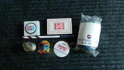 Lot Of 7 Misc Pepsi Collectibles Playing Cards Pencil Hacky Sack Balls Key Chain