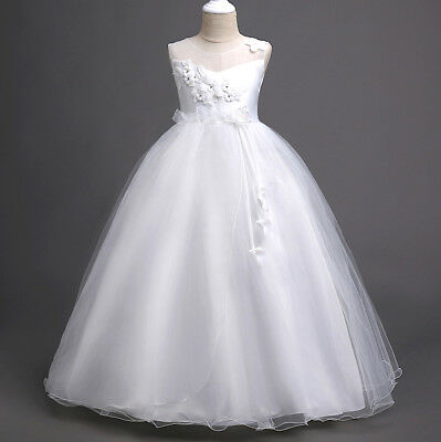 Dress Bridesmaid Holy Communion Suit Girl Party CDR078 White
