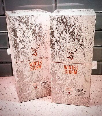 Glenfiddich Winter Storm 21 year collectable bottle and box