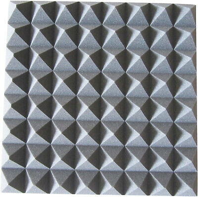 New Jersey Sound Acoustic Foam Tiles (Style Pyramid Colour Grey)