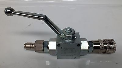 Pressure Washer 3/8 Quick Connectors With Ball Valve Italian Made