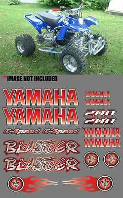 Yamaha BLASTER Full Color RED DIGITAL 16pc Quad ATV Stickers Decals Graphics 200