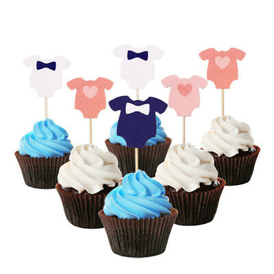 10pcs süßes Baby Kleidung Cupcake Toppers Party Decor Baby Dusche liefert