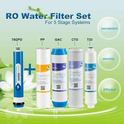 5 Stage Reverse Osmosis Replacement Water Filters fit APEC/iSpring/Express Water
