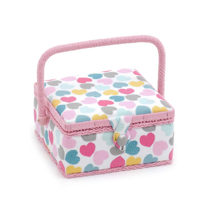 Hobby Gift 'Love' Small Square Sewing Box 20 x 20 x 11cm (d/w/h)