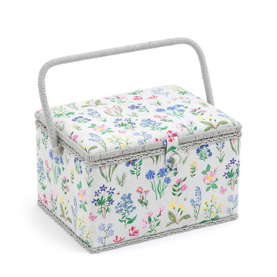 Hobby Gift 'Spring Garden' Large Rectangle Sewing Box 23.5 x 31 x 20cm (d/w/h)
