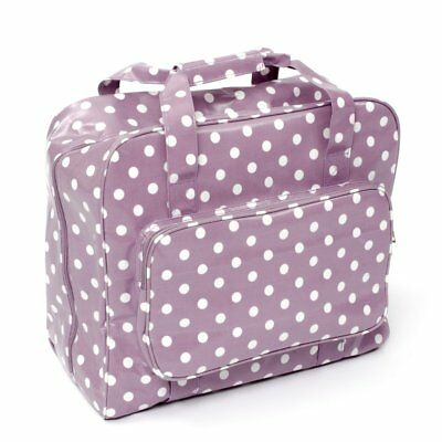 Hobby Gift Mauve Spot PVC Sewing Machine Bag 20cm x 43cm x 37cm