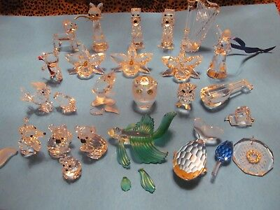 Lot of 23 damaged SWAROVSKI  Crystal Figurines for Parts or Repair – Damaged Lot