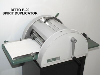 Ditto E-20 Spirit Duplicator Fluid Duplicating Mimeograph Copy Print Machine