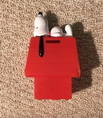 """Vintage Peanuts SNOOPY Doghouse Coin Piggy Bank 7"""" 1958 1966"""