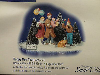Dept 56 Happy New Year Celebration Tree 2000 North Pole Christmas Village Lot