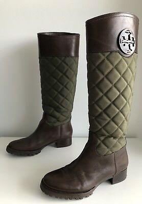 2582ec5836b NEW TORY BURCH Black Navy Blue Rosalie Riding Boot Size 5 -  110.00 ...