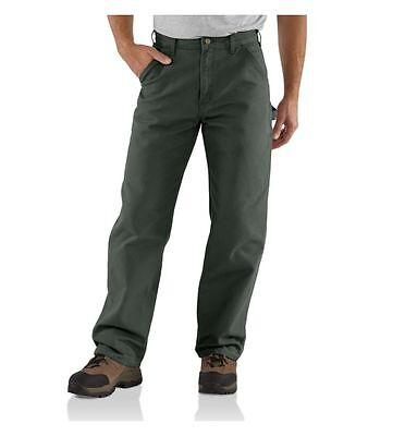 New Carhartt Mens B11 Washed Duck Work Dungaree Pants 36 x 30 Moss Green Utility
