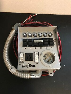 GenTran 20216 6-circuit 15 Amps Transfer Switch - new in box