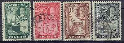 Nigeria.  1935-6 KGV short set   ½d, 1d, 1½d, & 2d used.  Nice copies.