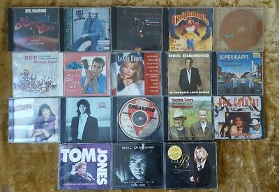 Lot Of 20 CD'S With Cases: Neil Diamond, Tom Jones, Barbra Streisand, Kenny G 04