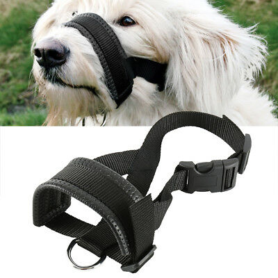 Pet Dog Train Adjustable Mask Anti Bark Bite Mesh Mouth Muzzle Stop Chewing Loop