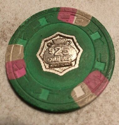 Gold Dust $25 Casino Chip Reno Nevada 2.99 Shipping