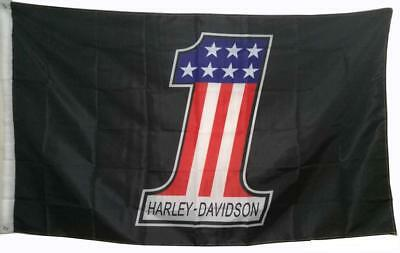 Harley Davidson Number One 1 Logo Flag Banner Poster Tapestry Man Cave 3x5 feet
