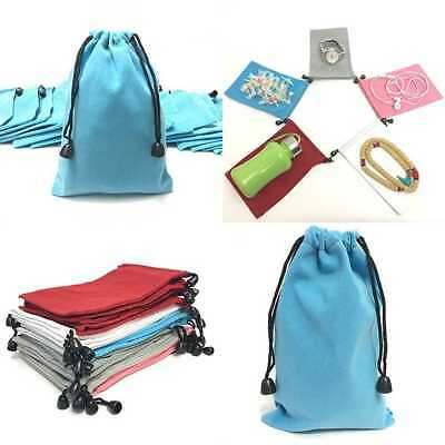 """Pack Of 25 LARGE 7"""" X 5"""" Pouch Bags Elegant Velvet Drawstring Jewelry PARTY"""