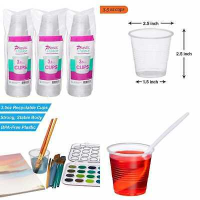 3.5 Oz.Disposable PLASTIC Cups SMALL Clear Snack & Drink Size Party Event Weddin