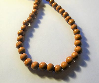 """Wood Bead Spacer, Round, Light Brown , 7-8mm , 16"""" strand,  #9466"""