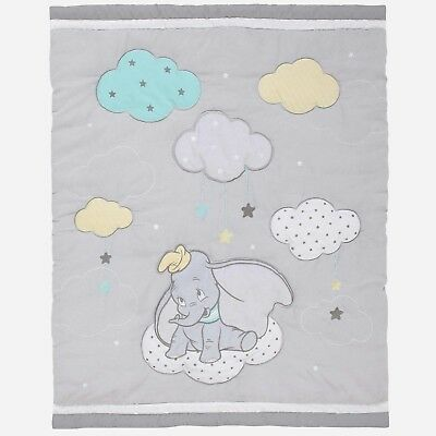 Disney Dumbo The Elephant  Applique Luxury Crib Comforter Only - See Details