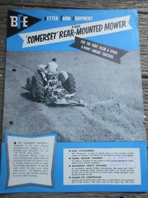 C 1960 BFE Better Farm Equipment tractor Somerset rear mounted mower flyer