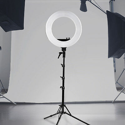 """New LED Photography Ring Light Dimmable 5500K 18"""" Photo Video Stand"""