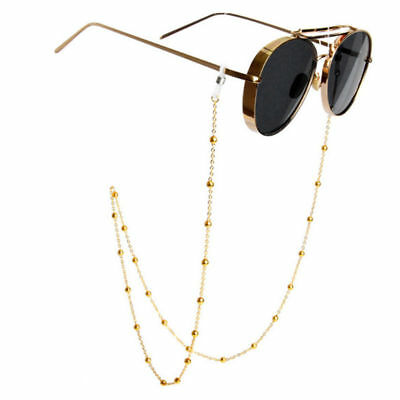 Shiny Gold Silver Eyeglass Cord Reading Glasses Eyewear Spectacles Chain Holder