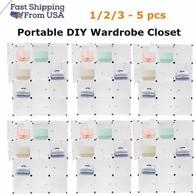 Wholesale Portable Clothes Closet Wardrobe DIY Modular Storage 12 Cubes EK#