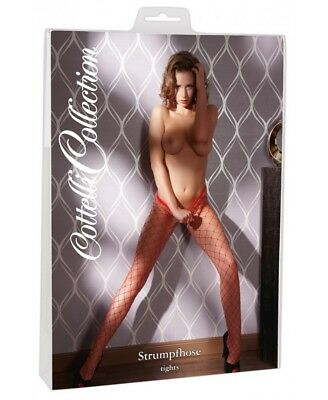 Collant a Rete Maglia larga Red tights