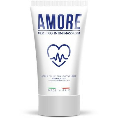 Lubrificante sessuale vaginale gel a base acqua Amore Made in Italy 100 ml