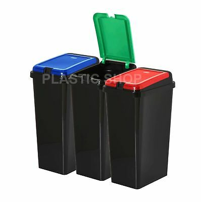 45L Rectangular Touch Top Recycle Recycling Bin Waste Trash Refused Dustbin