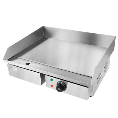5 Star Chef Stainless Steel 3000W Electric Griddle Grill Hot Plate 55x43x23cm