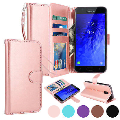For Samsung Galaxy J7 2018 / J7 Refine Star Top Aura Leather Wallet Case Cover