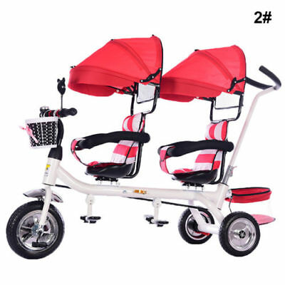 Lightest Twins Baby Stroller Tricycle Portable Carriage Double travel.pushchairs