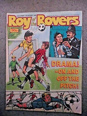 Roy Of The Rovers Comic 15/10/1988 Vintage Rare Vgc