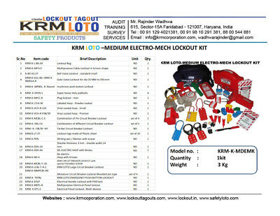 Krm Loto - Medium Electro Mech Lockout Kit