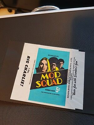 Mod Squad 1970 Scanlens Card Wrapper Very Rare EXC Condition