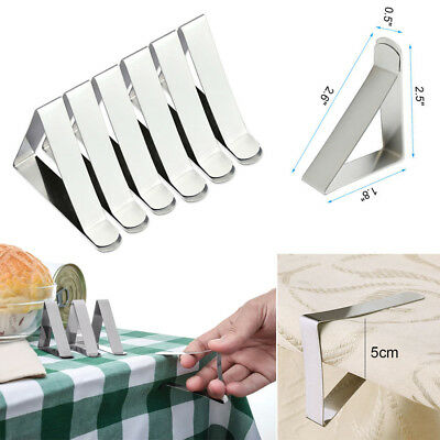 24x Adjustable Stainless Table Cloth Clips For Jumbo Table Cover & Skirt Holders