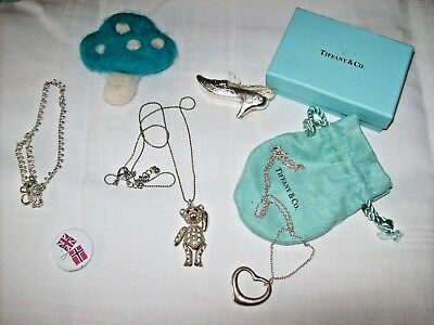 Mixed Job Lot of Costume Jewellery etc,includes Teddy Bear,Heart Pendant '925'