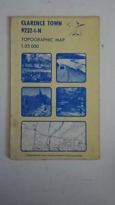 Topographic Map 1:25,000 Series Clarence Town 9232-1-N 1ST Edition 1979 NSW