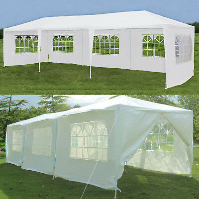 10'x30' Outdoor Party Wedding Tent Canopy Gazebo Pavilion Cater Event w/ 8 Walls