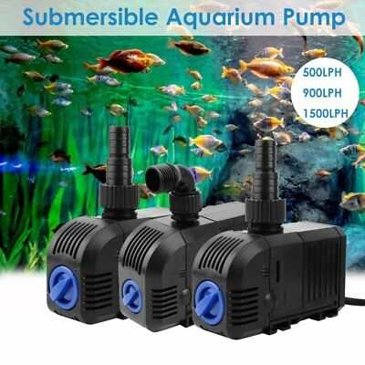 Submersible Water Pump Aquarium Pond Marine Tank Waterfall Fountain 500-1500LPH