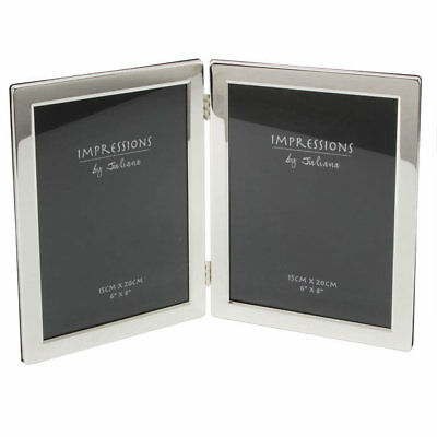 Juliana Double Silver Plated 6 x 8 Photo Picture Frame Home Gift